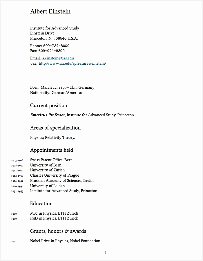 pact academic CV Resume Template900700