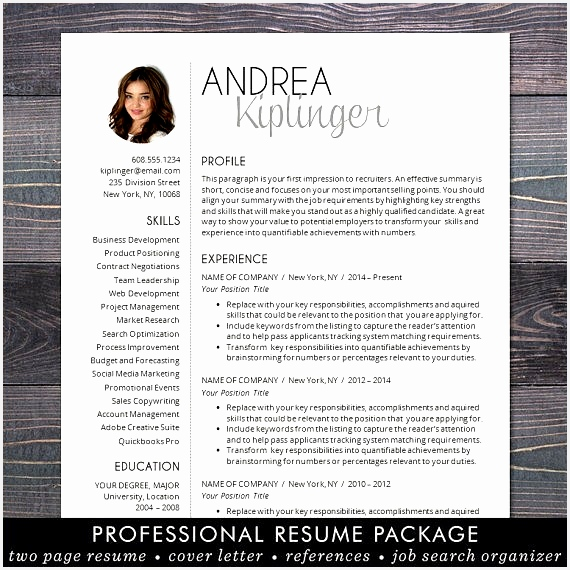 SALE Resume Template CV Template for Word Mac Pages570570