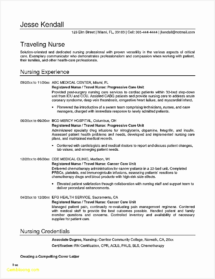 Resume format for Nursing Inspirational Registered Nurse Resume S I Pinimg 736x 8d 0d D8900695