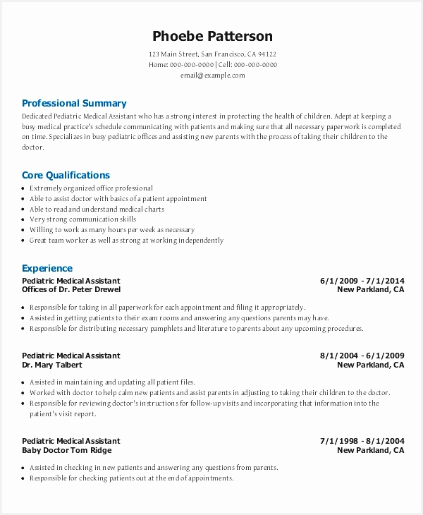 pediatric medical assistant resume template for free interest medical administrative assistant resume samples730600