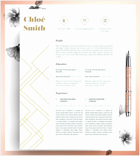 Ms Word Resume Template Inspirational Creative Professional Resume Template Cv Template Editable In Ms 58636570
