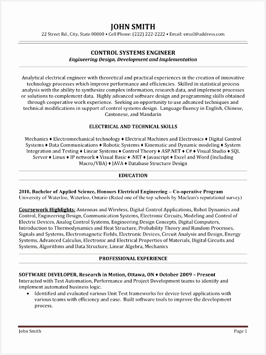 Here to Download this Control Systems Engineer Resume Template701525