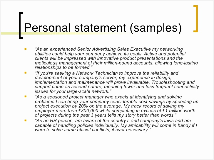 Declaration In Resume Sample Inspirational Example Personal Statement for Resume Examples Resumes 60 Best546728