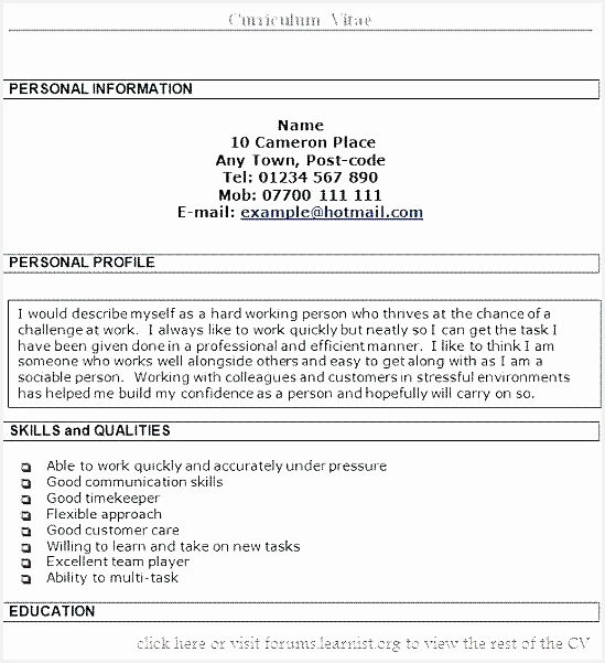 personal profile examples for resumes personal profile templates personal profile presentations examples resume601549