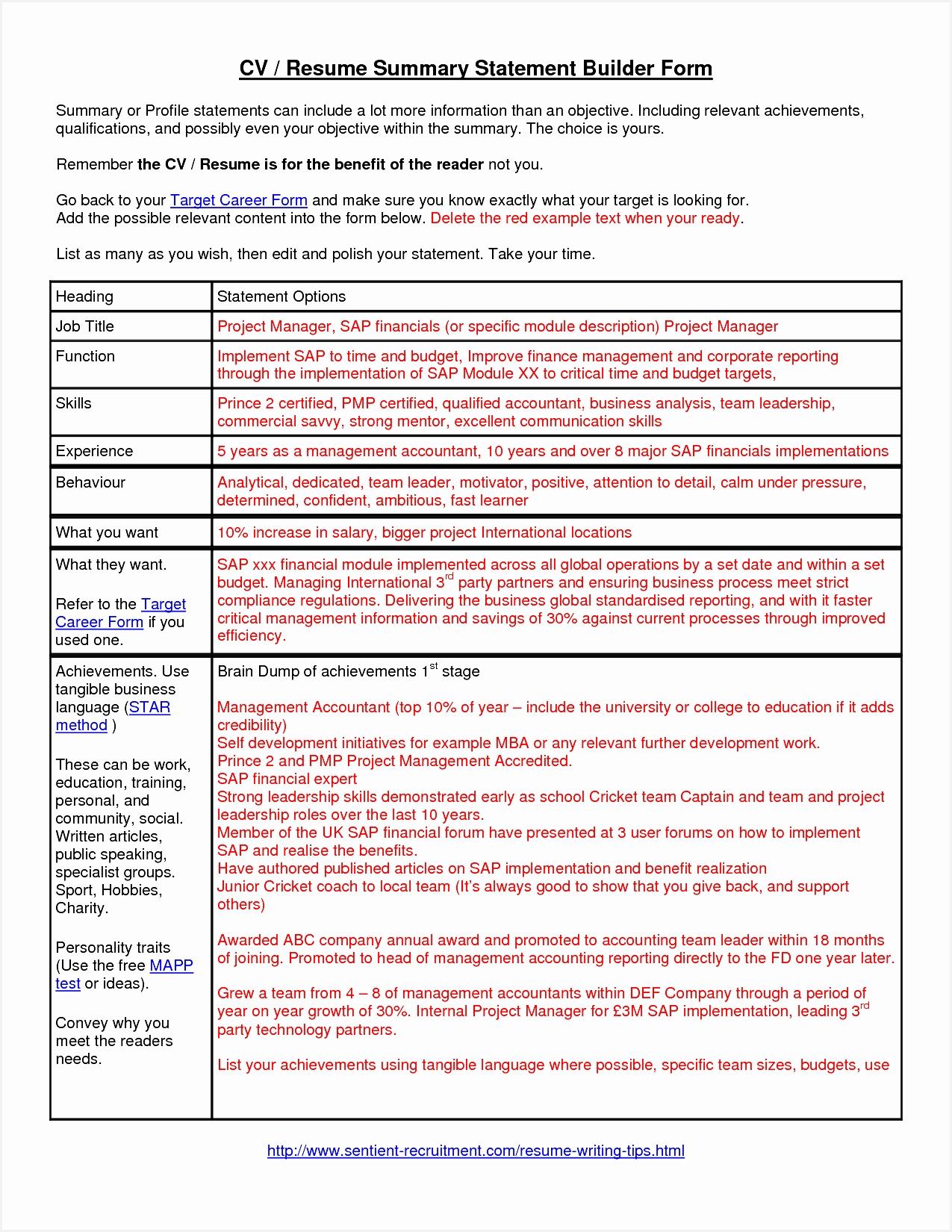 summary statement resume16501275