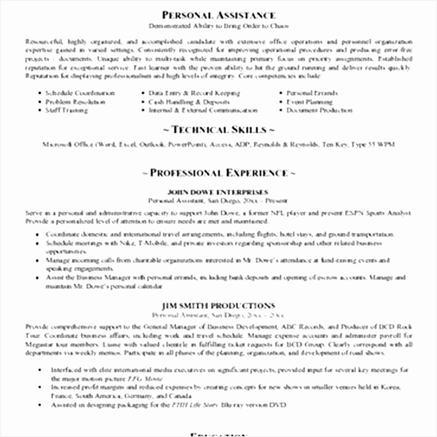 6 cv template personal statement