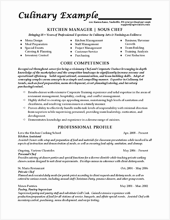 Sous Chef Resume Example712550