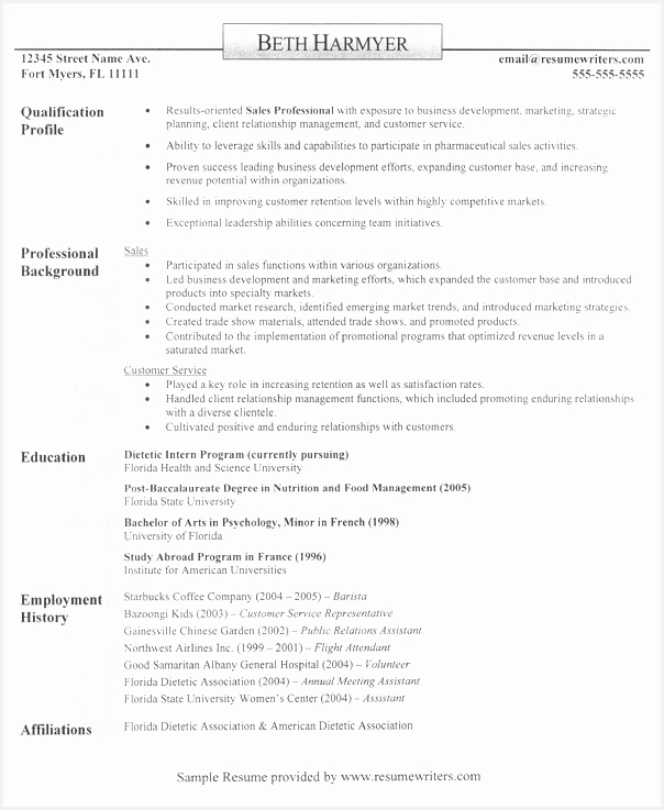 A sample resume for someone in sales sales resume resumewriters737604