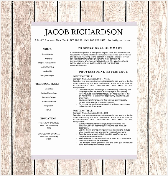 Teacher Resume Template for Word US Letter Teacher Resume Writing Guide Icon Set Cover Letter Template References594570