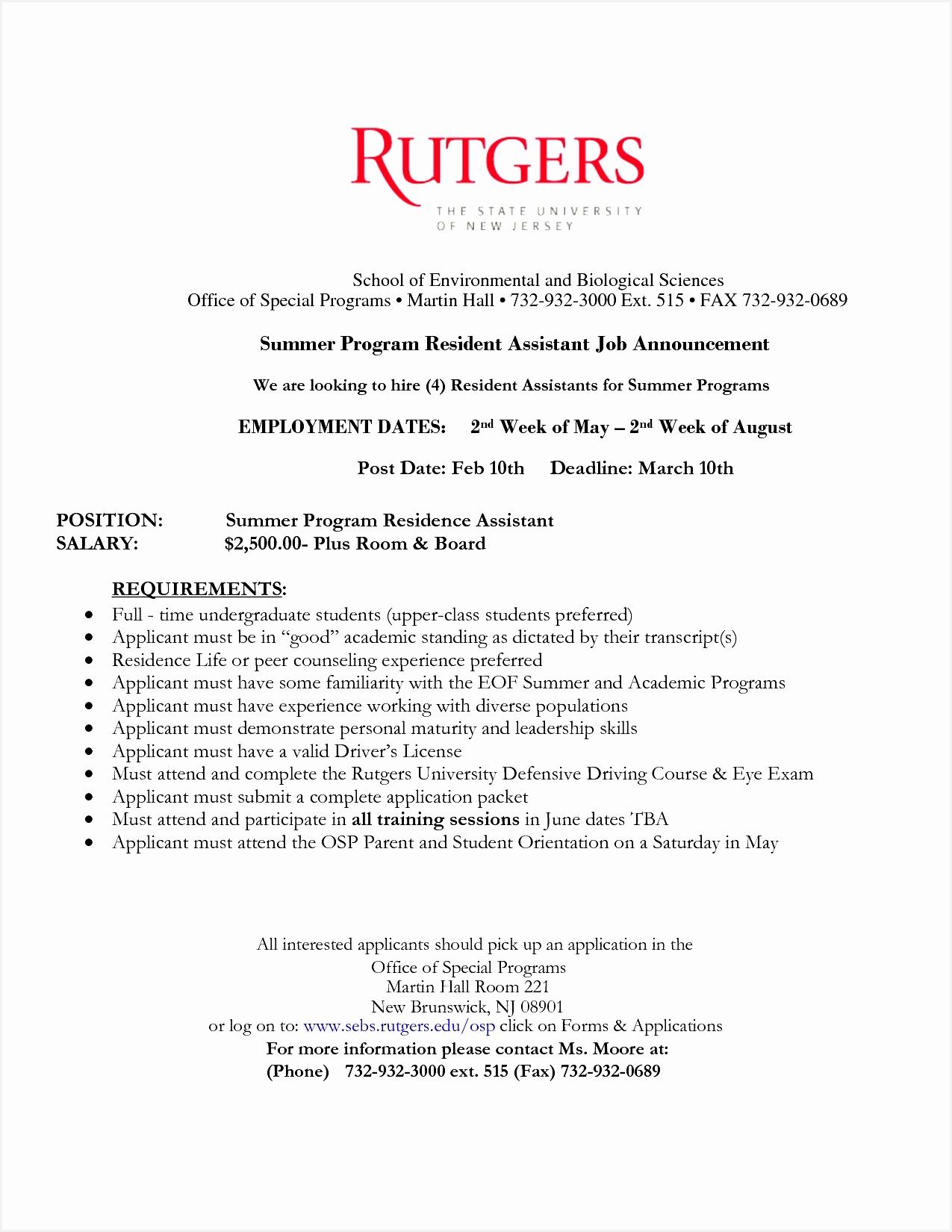 resident assistant resume resume template Pinterest16501275
