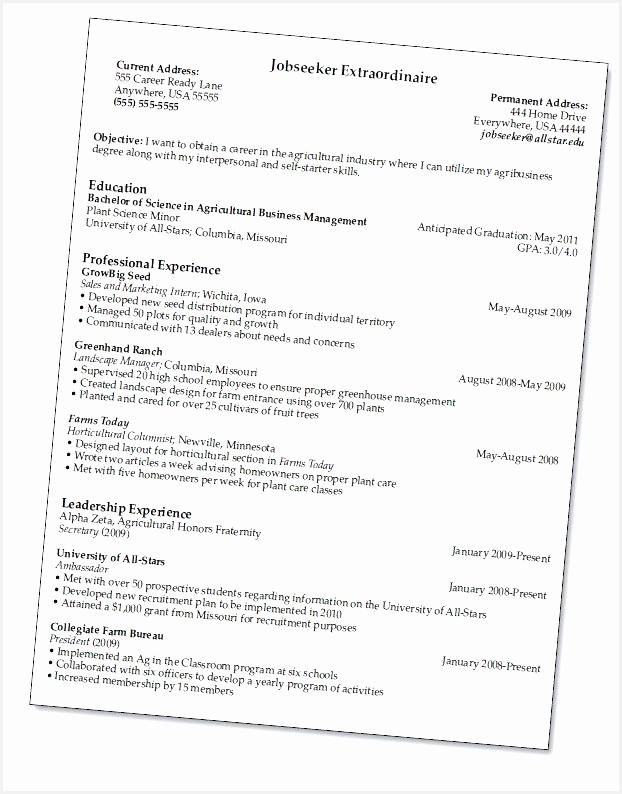 Resume for Marine Science Unique Resume 101 0d794622