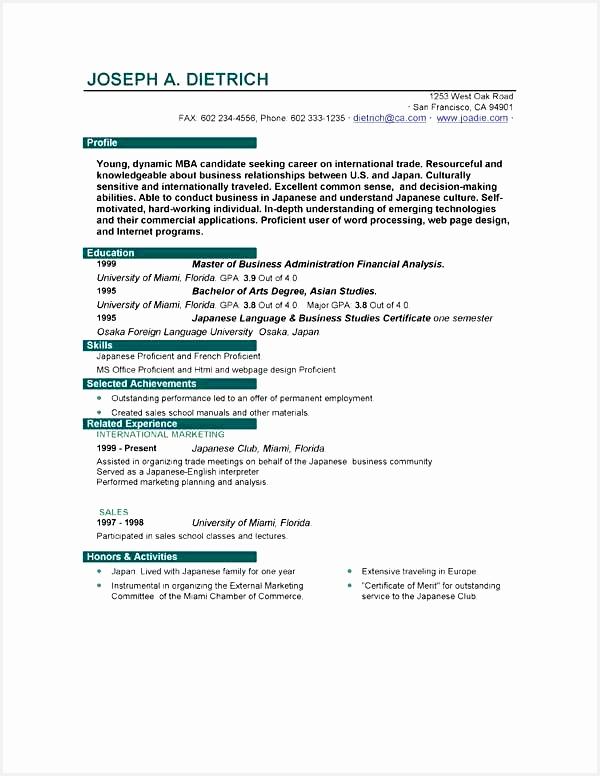 resume template first job776600