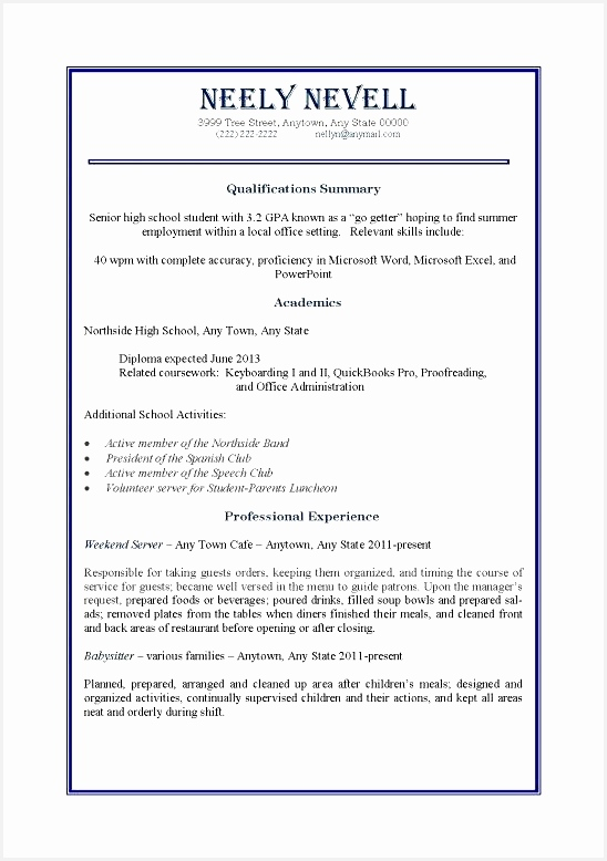 Job Resume Examples For Students Examples of Resumes778548