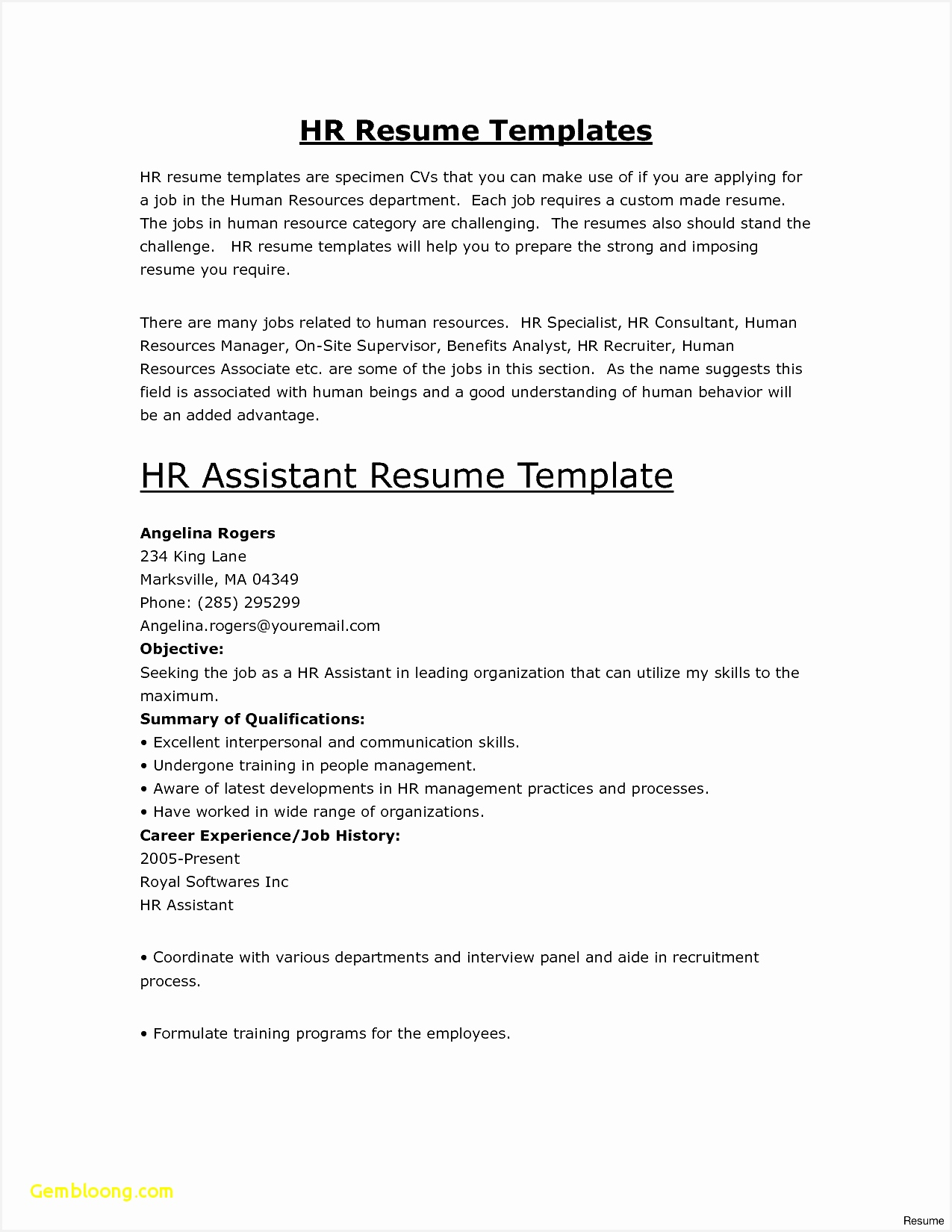 Simple Resume Layout Sample New Basic Resume Template Free Best Od Specialist Sample Resume16501275