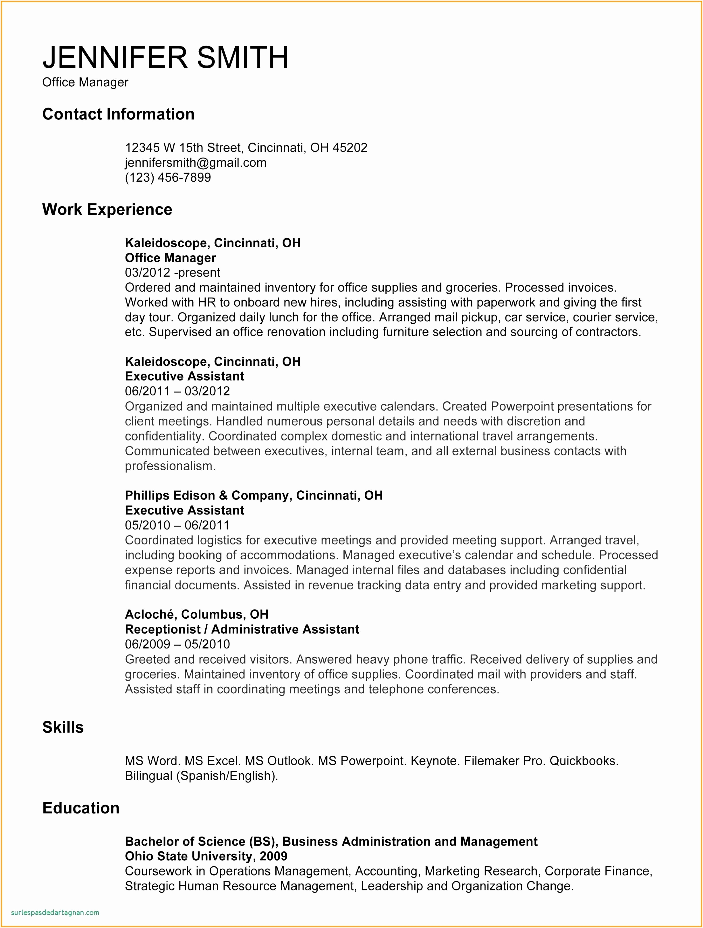 Resume Template Download Elegant Reception Resume Luxury American Resume Sample New Student Resume 0d32342448