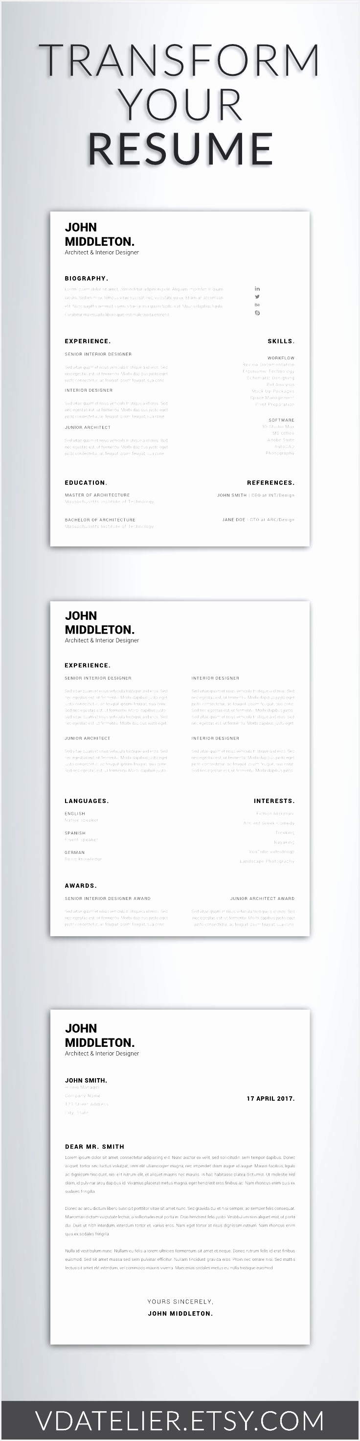 Fresh 32 Best Modern Resume Templates Pinterest Teacher Resume Template Inspirational Examples Resumes2943736