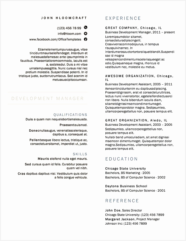 Latex Document Template Awesome Word Resume Template 53 Beautiful Latex Document Template809625