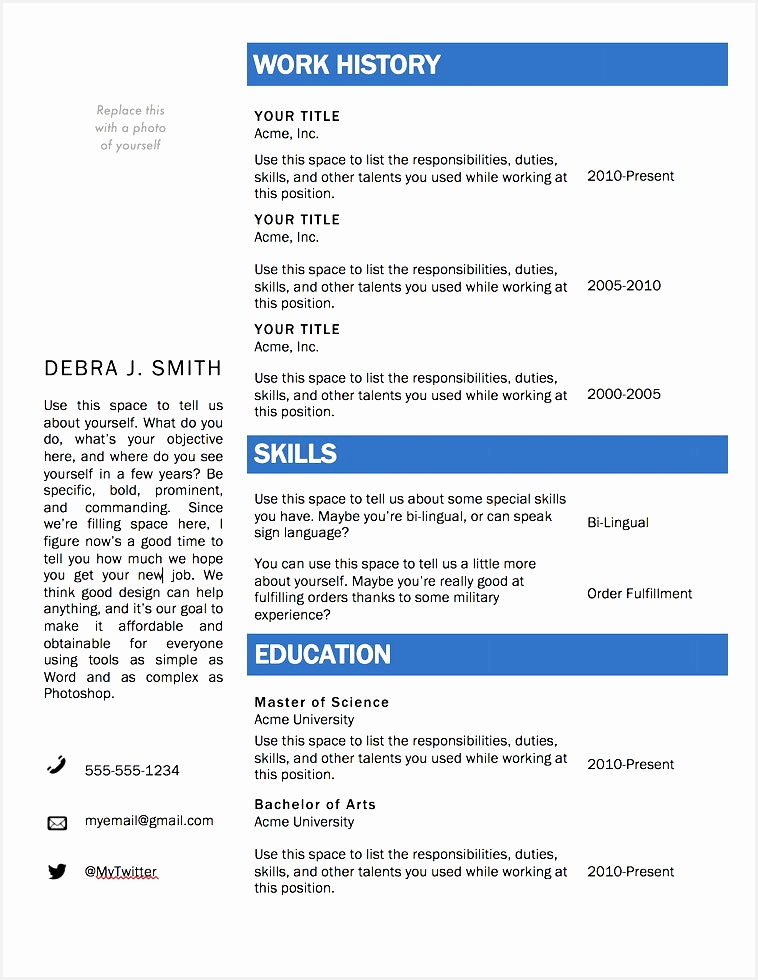 Browse Free Microsoft Word Resume Templates 2018980758