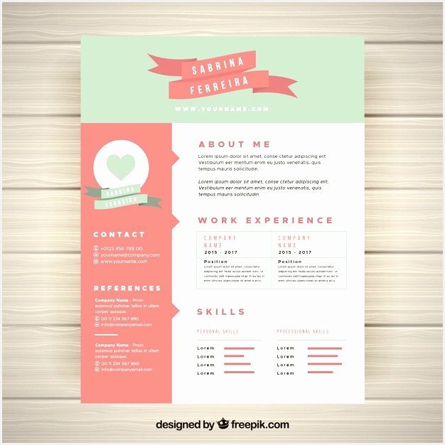 Cute Resume Templates Delectable Cute Resume Template Vector Free Download626626