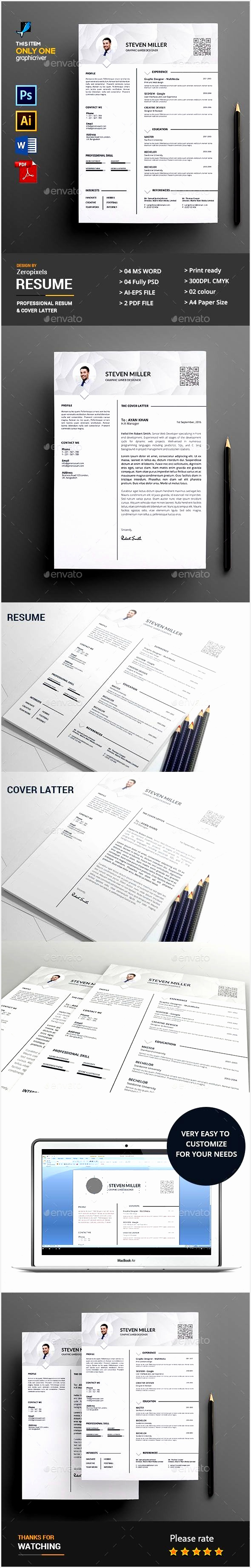 Resume Template PSD Vector AI MS Word Download here3683590