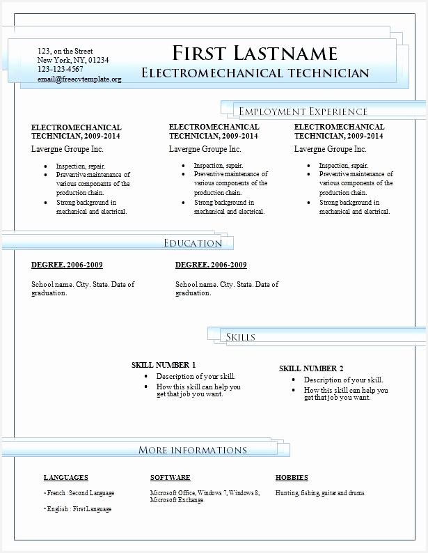 resume templates microsoft word794615