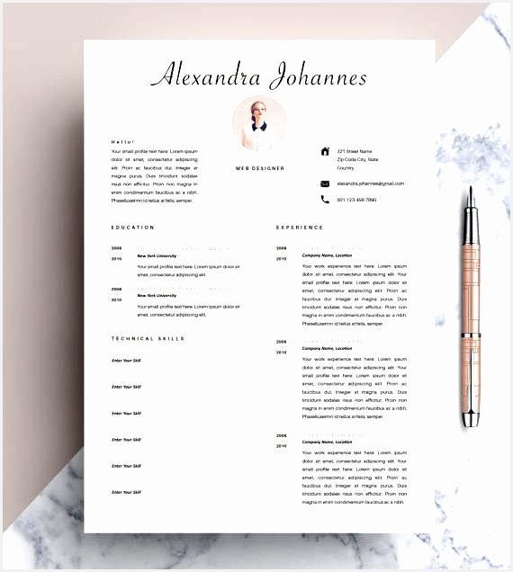 Professional Resume Template CV Template Editable in MS Word and Pages Instant Digital Download Size A4 and US Letter636570