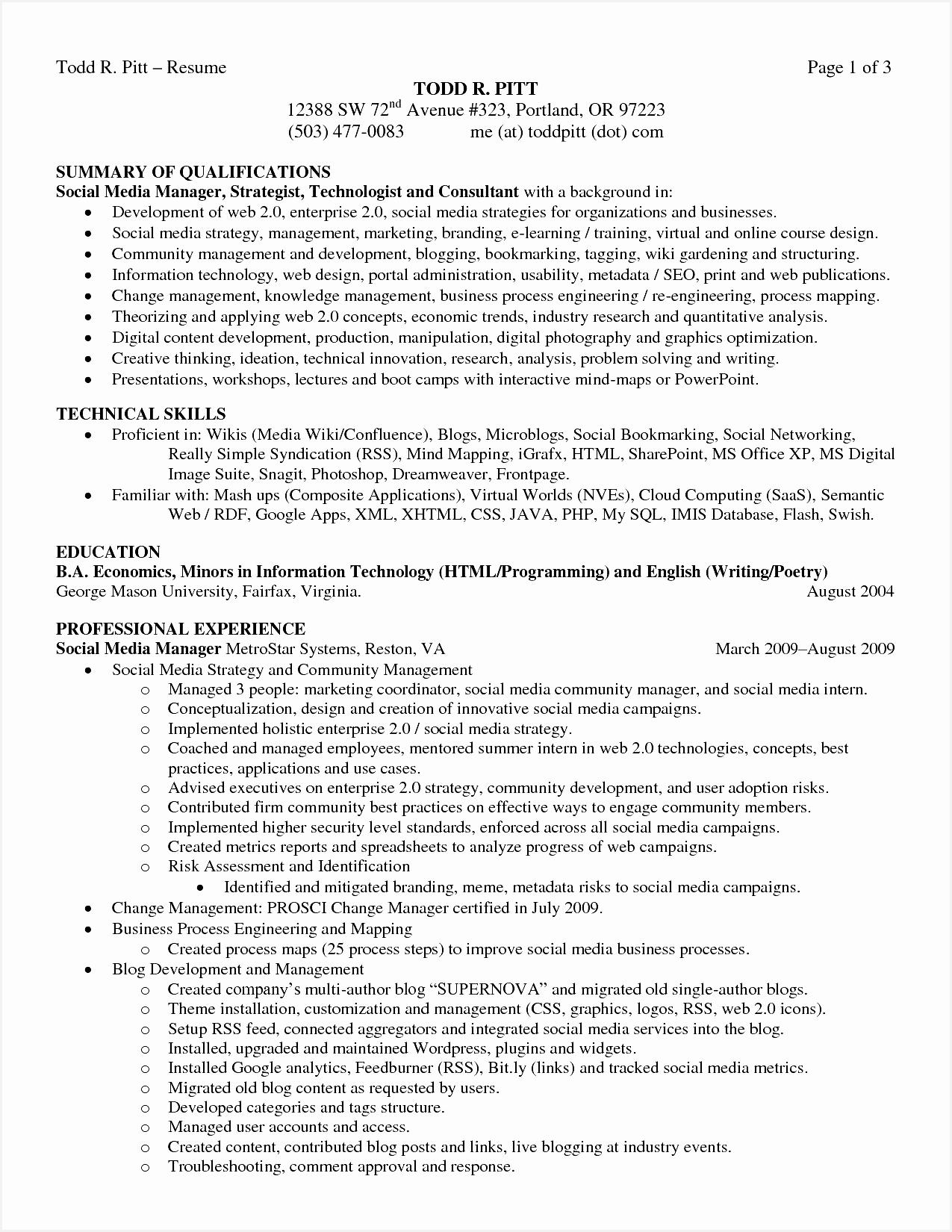 Good Resume Words Elegant Good Summary for A Resume Luxury Fresh Examples Resumes Ecologist Good16501275