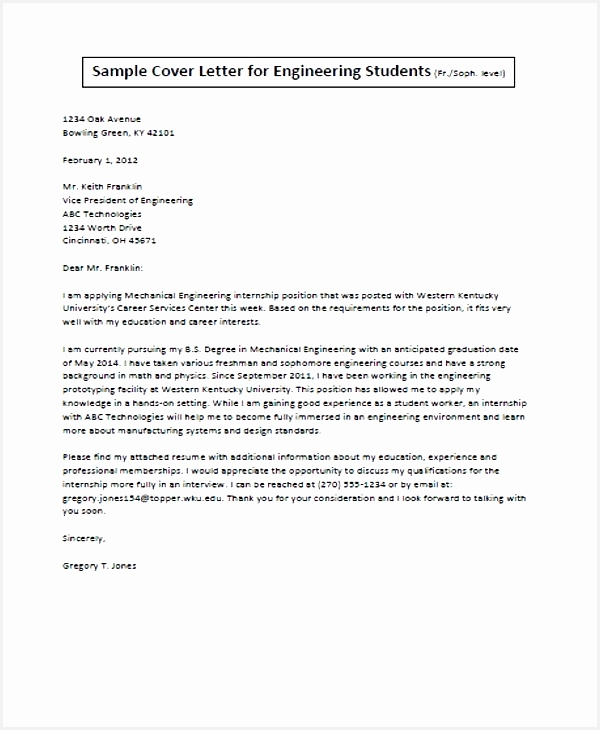 cover letter engineering student job application letter for engineer 11 free word pdf format730600