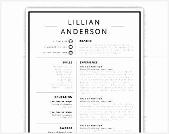 free modern resume templates for word free minimalist professional microsoft docx270340