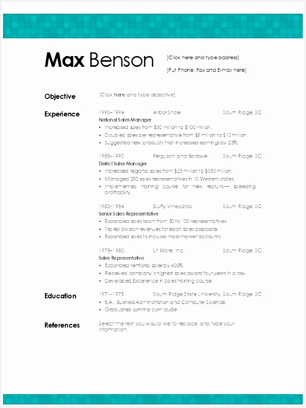 best microsoft word resume template800600