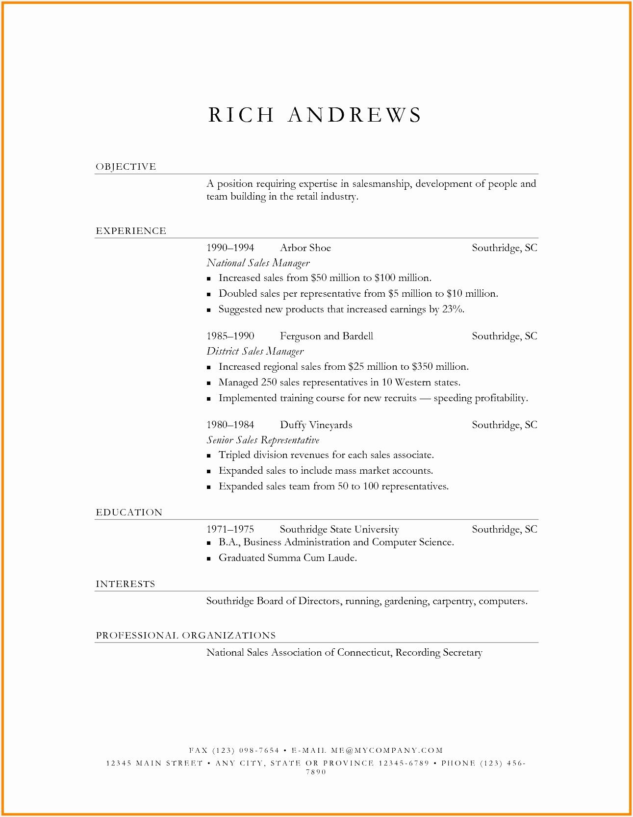 Mock Resume Templates Lovely Free Resume Cover Letter or Od16661291