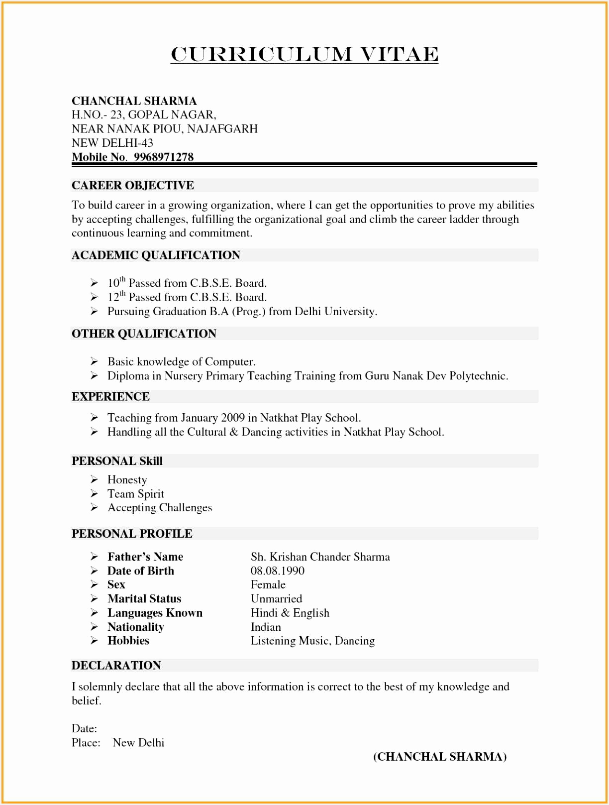 sample of professional resume best of most updated resume format fresh i pinimg 1200x da 0d16171224