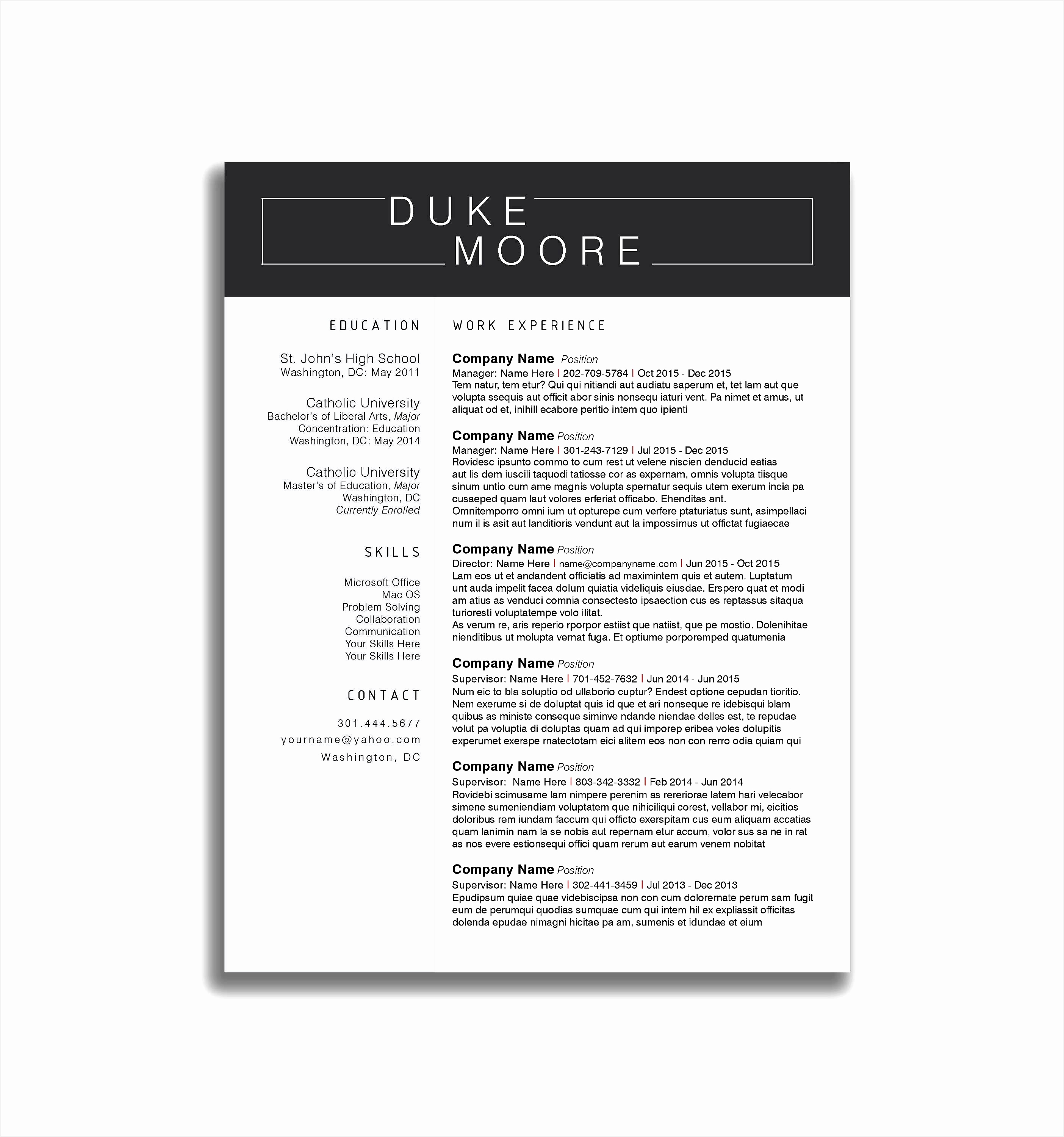 free creative resume templates microsoft word inspirational resume30002808