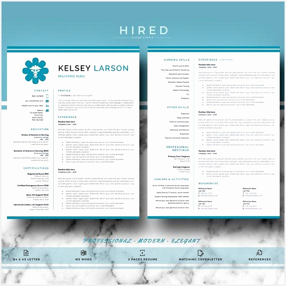 Nurse Resume Template Doctor Resume Template for MS Word RN Nurse Resume Doctor CV Nurse cv Instant Download570570