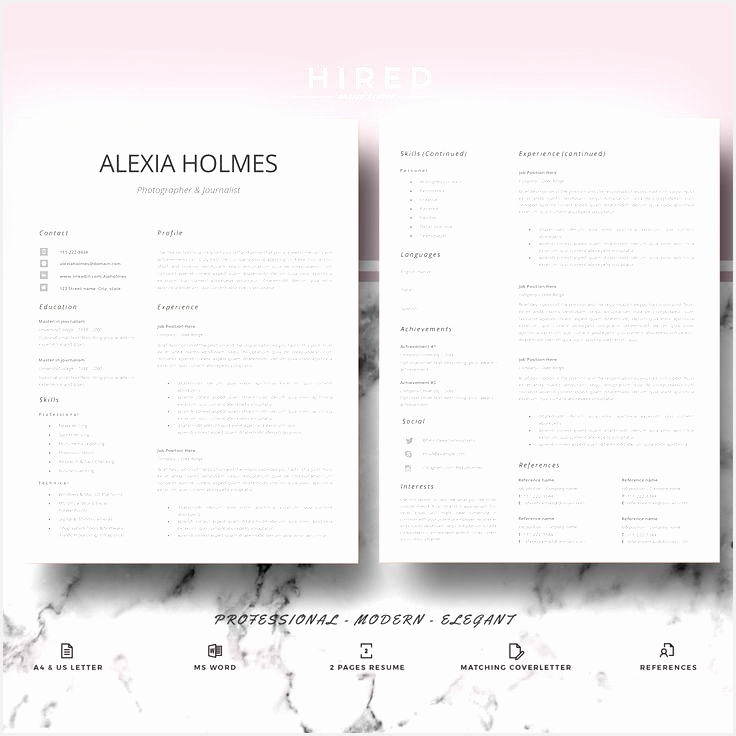 Resume templates Modern & Professional Resume design CV template for Ms Word Modern curriculum vitae736736