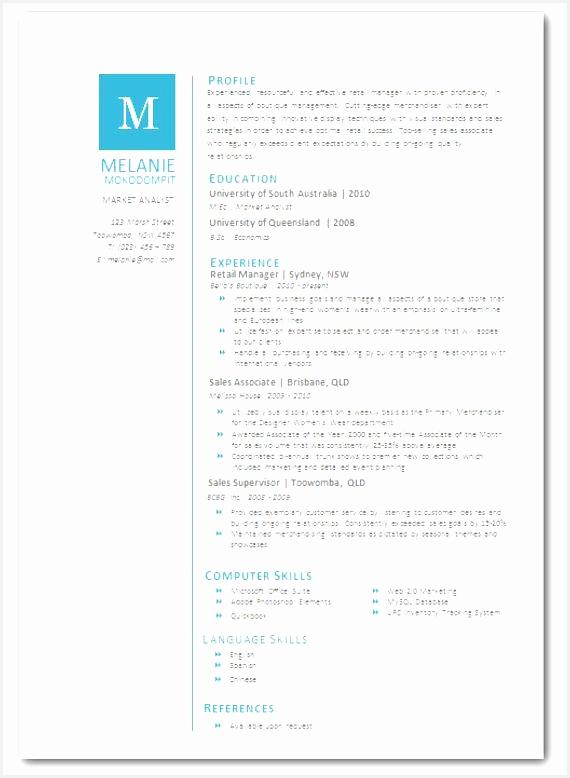 Modern Microsoft Word Resume Template Melanie by Inkpower $12 00778570