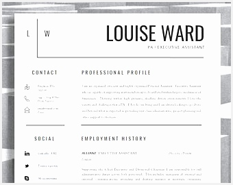 Resume Template CV Template Cover Letter Resume Advice For MS Word Instant Digital Download Mac or PC270340