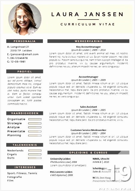 CV Sjabloon 19 Cv Templates WordResume636450