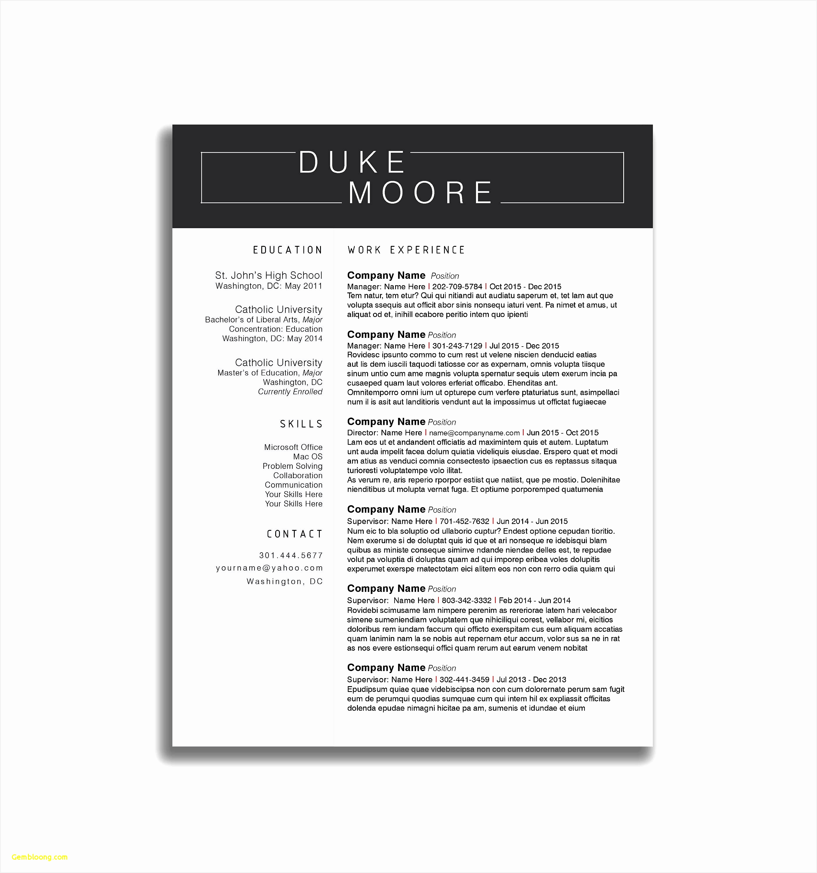 Ms Word Resume Template Lovely Legal Resume Template Word Free Download Resume Writing Examples30002808
