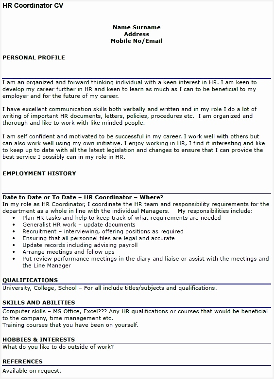 29 resume example uk format hr coordinator cv778564