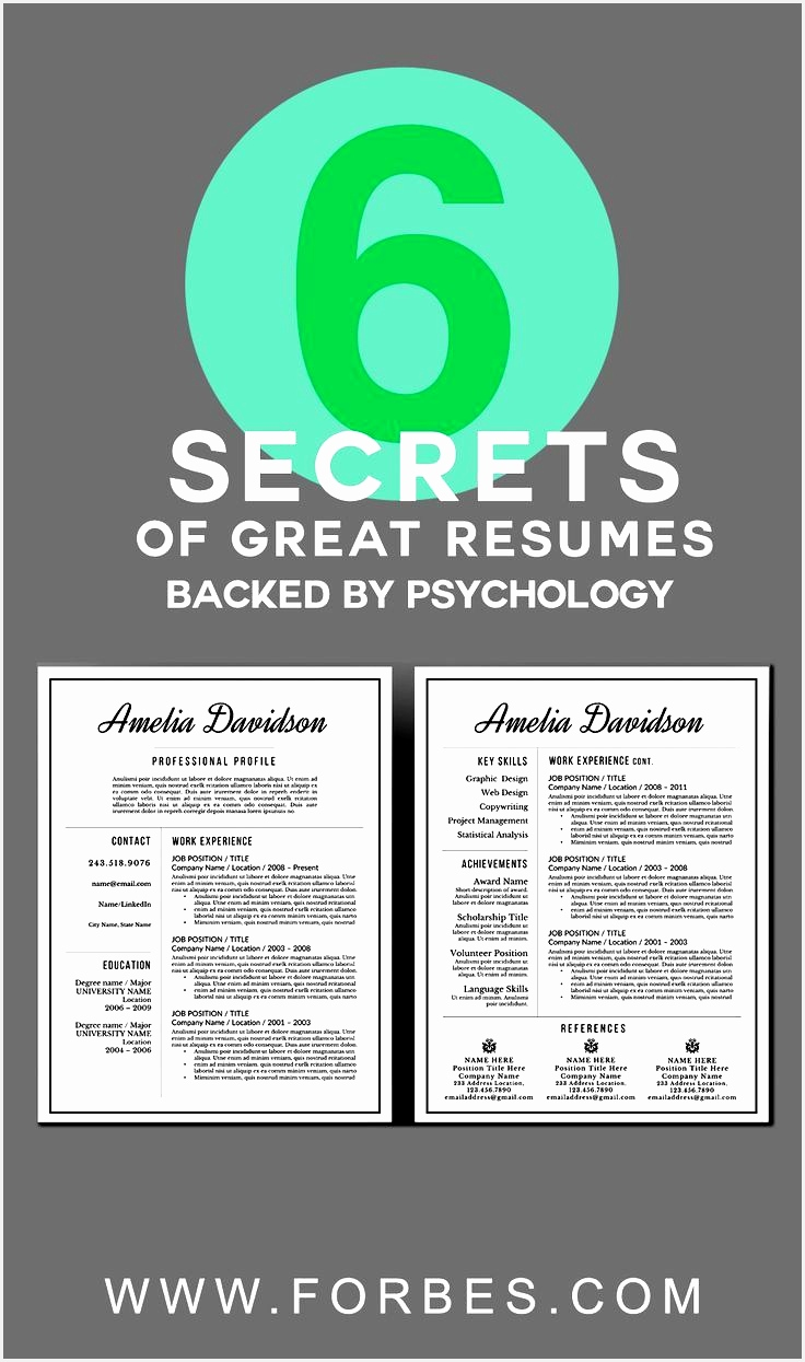 6 Secrets of Great Resumes Backed By Psychology1245736
