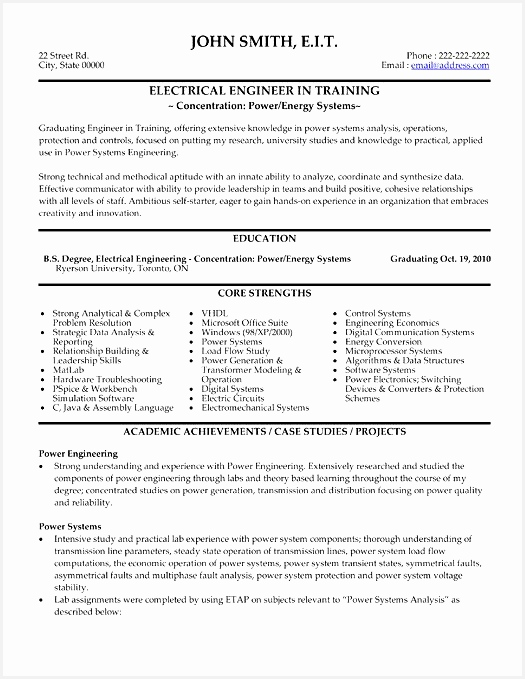 electrical engineer resume example 42 best Best Engineering Resume Templates & Samples images on679525