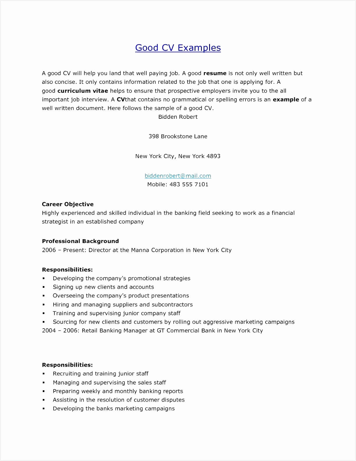 Good Examples Resumes New Cover Letter Examples for Resume Marketing Inspirationa What Means Good15841224