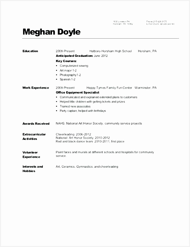 High School Resume Template New Dance Teacher Resume Dancer Resume Sample How to Write A800617