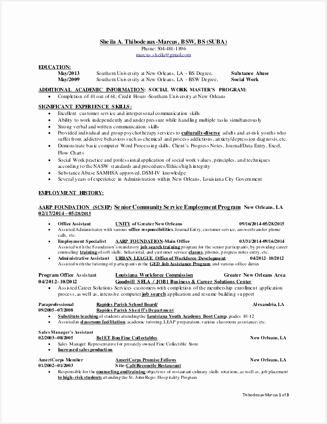 Writing A High School Resume Good Bsw Resume 0d826638