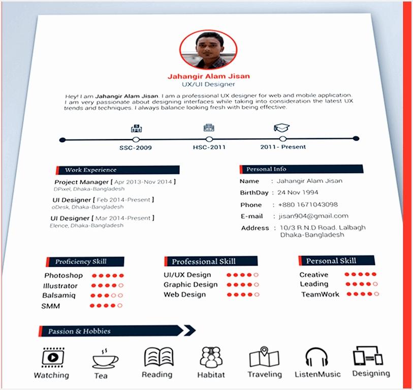 3 Page Resume Template by Jahangir Alam Jisan768813