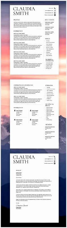 Medical Resume Template Word Minimalist Resume with Cover Letter Resume Template Word Mac Instant Download Resume Template Word Modern800236
