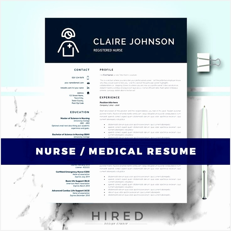 Nurse Resume Template Doctor Resume Template for MS Word RN Nurse Resume Medical resume Nurse cv Instant Download736736