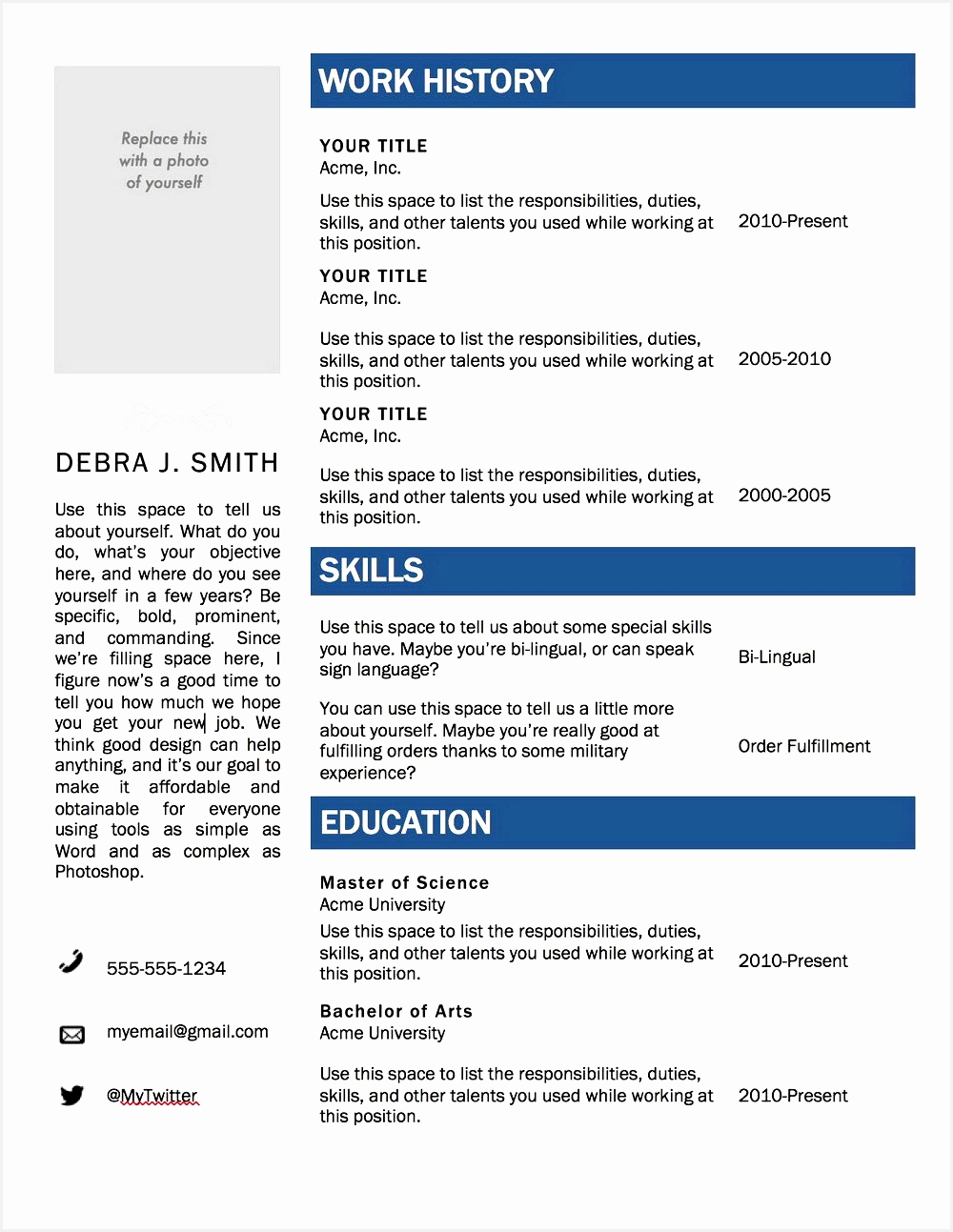 Microsoft Word Resume Templates Free Download Unique Microsoft Word Resume Templates Free New I Pinimg 736x 0d 63 6912931000