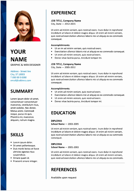 free word cv template800565